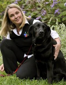Dr Katie with her dog Rosie